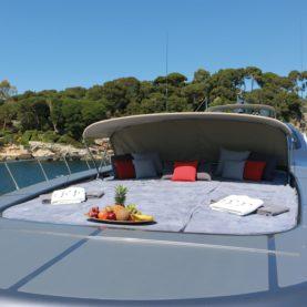 Yacht Charter - Mangusta 108 JFF - Top Back View