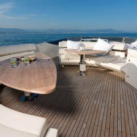 Yacht Jurata deck