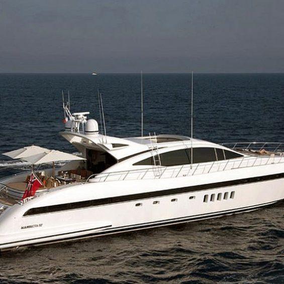 Mangusta super yacht charter