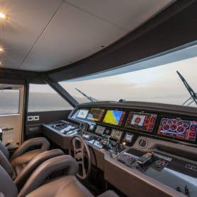 Luxury super yacht cockpit