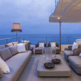 super yacht aft deck