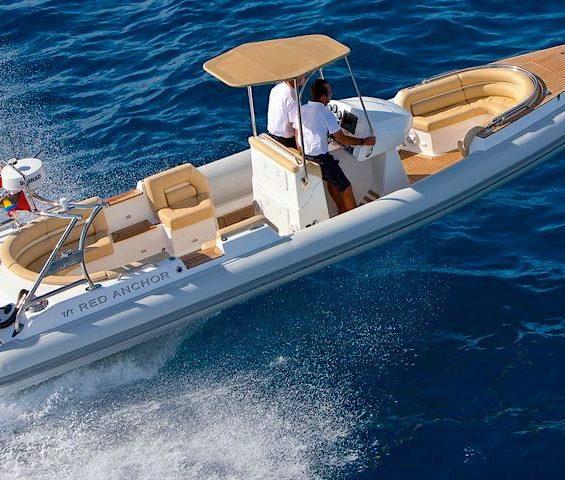 Wahoo luxury super yacht tender for rent.