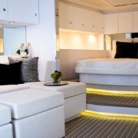 VanDutch 55 for charter spacious cabin