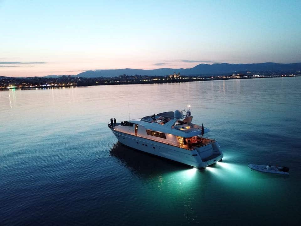 Yacht Solal at night