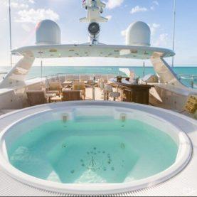 Burger Yacht Charter MIM sun deck jacuzzi