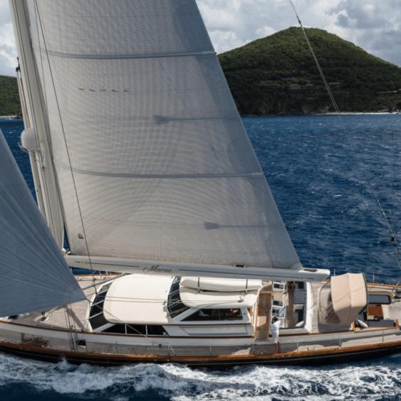Alloy Yachts Marae underway