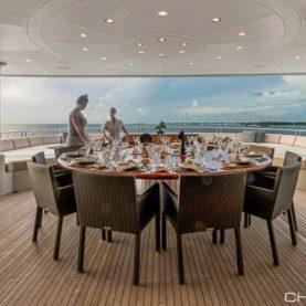 Sovereign aft deck dining