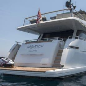 2017 Sanlorenzo Yacht Charter aft