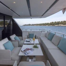 2017 Sanlorenzo Yacht Charter aft deck