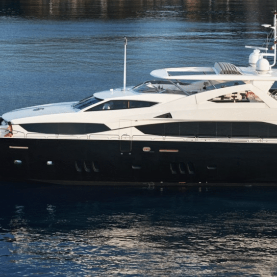 Sunseeker Charter Yacht Black and White