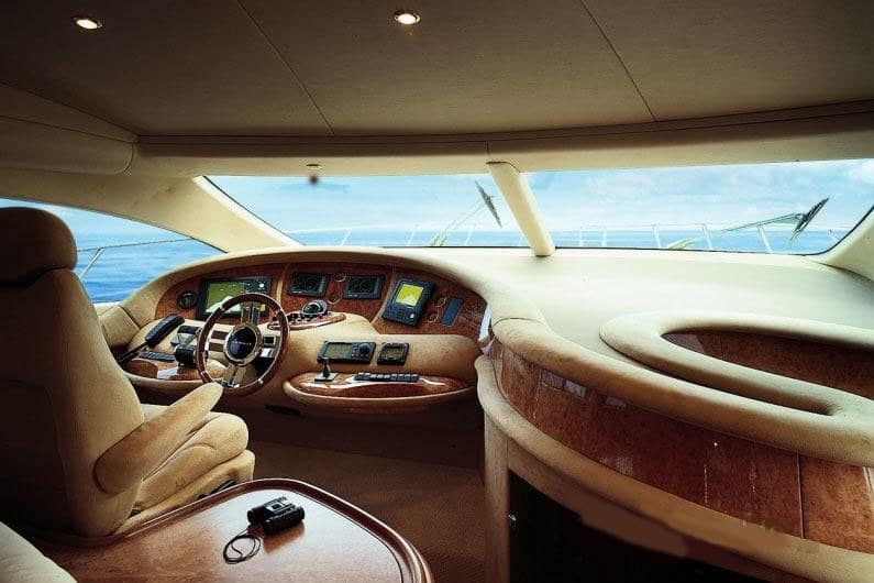 Cockpit of Yacht